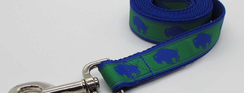 Exclusive Green Buffaloes Dog Leash