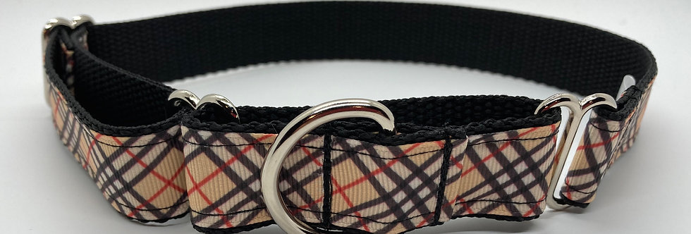 Burberry Print Inspired Martingale Dog Collar