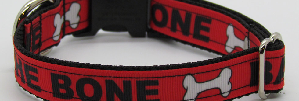 Small Bad to the Bone Dog Collar