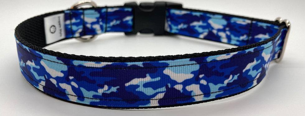 Blue Camouflage Dog Collar
