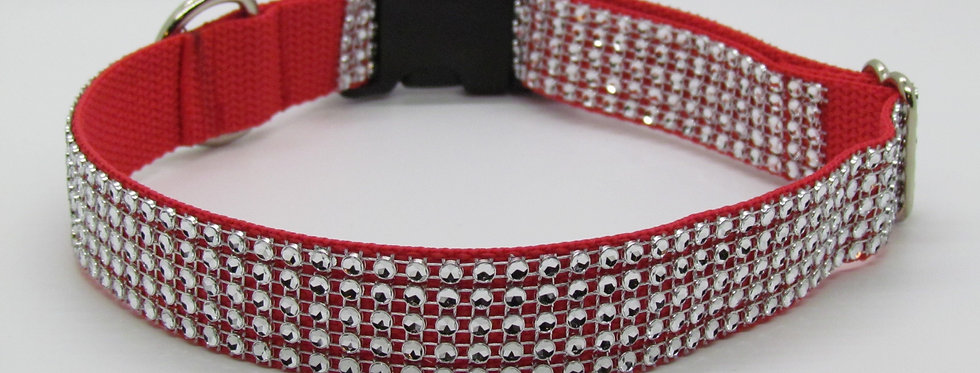 Red Bling (Rhinestone) Dog Collar