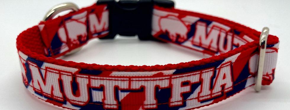 Exclusive Original Doggie Stylz Buffalo Muttfia Small Dog Collar