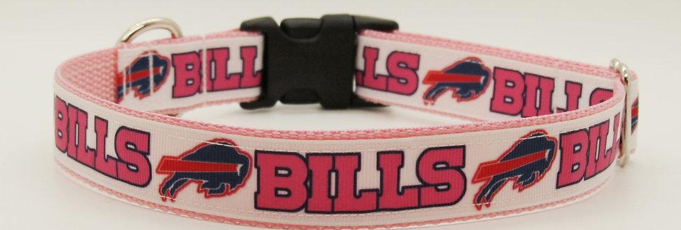 Pink Buffalo Bills Inspired Dog Collar