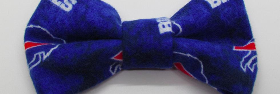 Buffalo Bills Inspired Flannel Dog Bow Tie