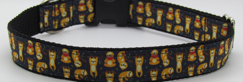Sloths Dog Collar
