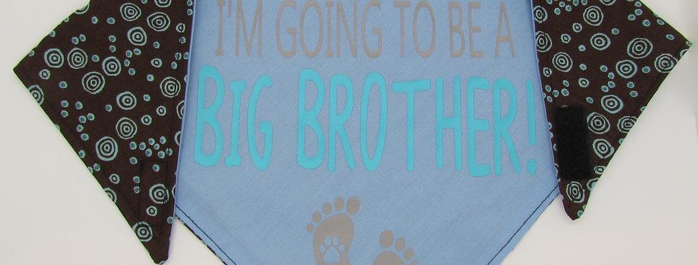 Big Brother (Light Blue) Reversible Dog Bandana