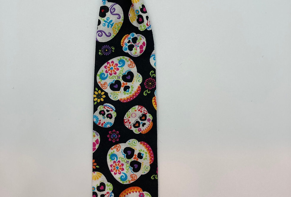 Halloween Sugar Skulls Dog Neck Tie