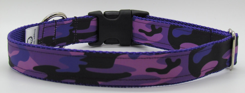 Purple Camo Dog Collar