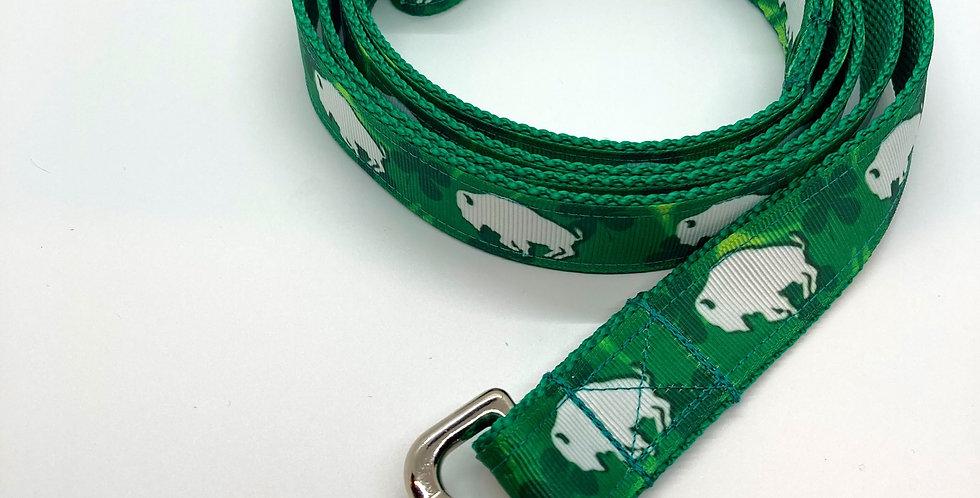 Exclusive Original Doggie Stylz Shamrock Buffaloes Dog Leash