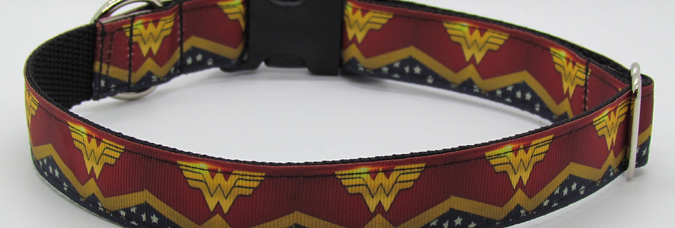 Wonder Woman Inspired Dog Collar