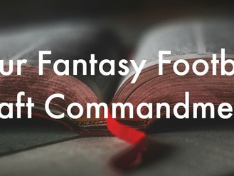 Fantasy Football Draft Commandments