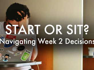 Start Or Sit? 36 Verdicts For Week Two