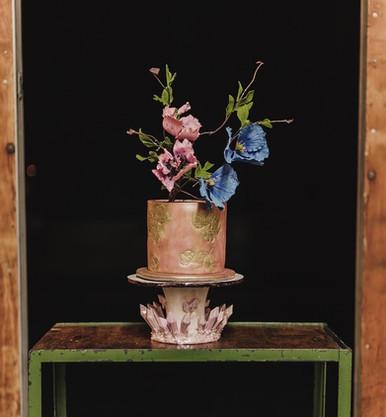 Jewel Los Angeles wedding cake