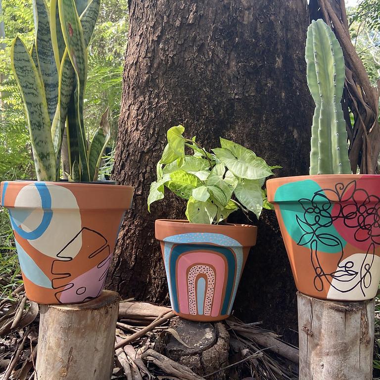 Painting Plant Pot Workshop