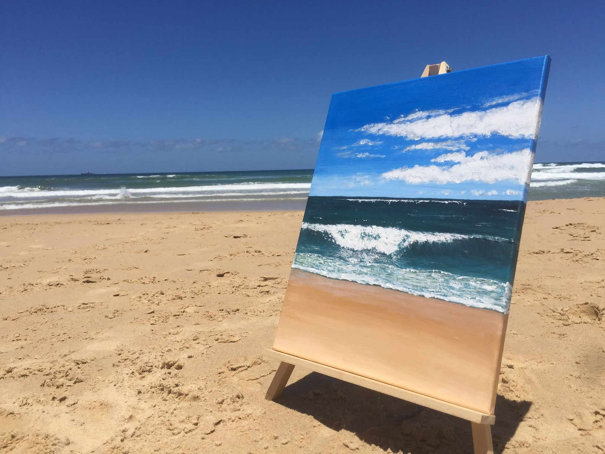 Seascape Beach Painting