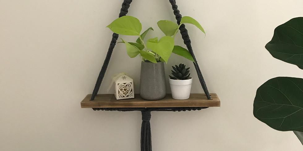 Macrame Hanging Shelf