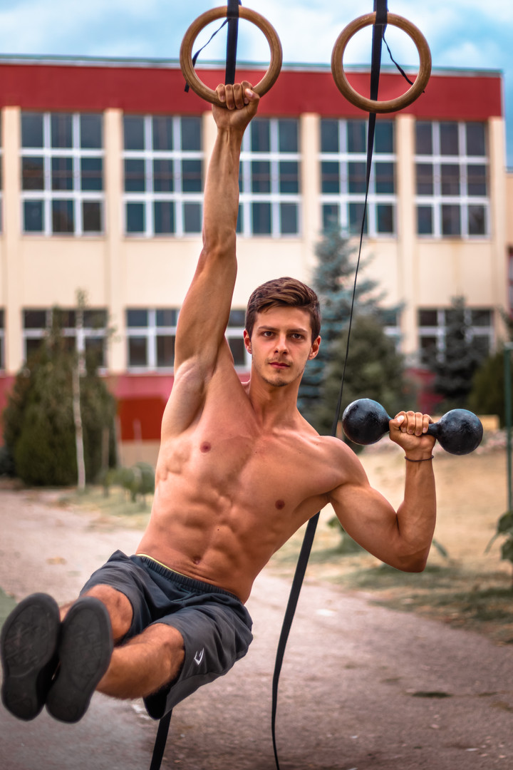 Gymnastic rings + weight lifting