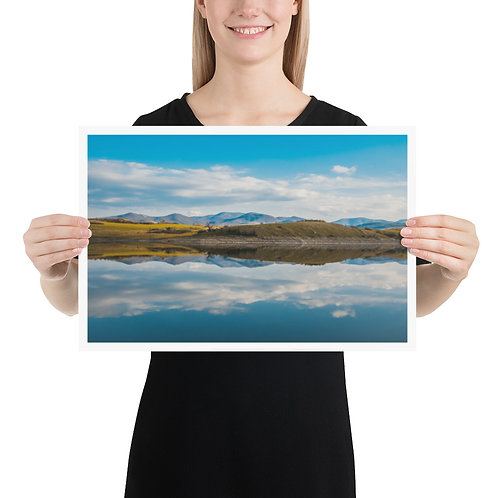 Seamless water reflection Poster