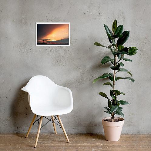 Divine Sunset Framed poster