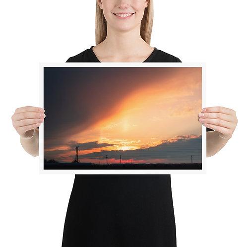 Divine Sunset Poster