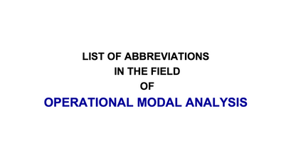 Abbreviations in OMA