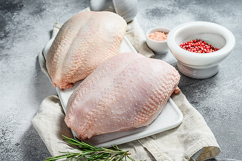 Raw Heritage Turkey Breasts (Bone-In)