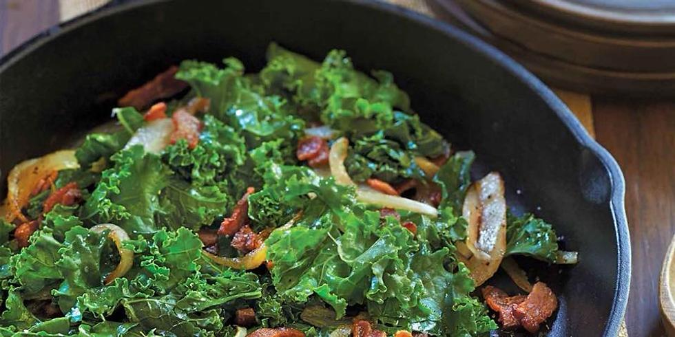 Braised Kale with Bacon Potlikker