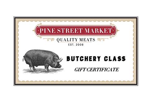 Butchery Class Gift Certificate
