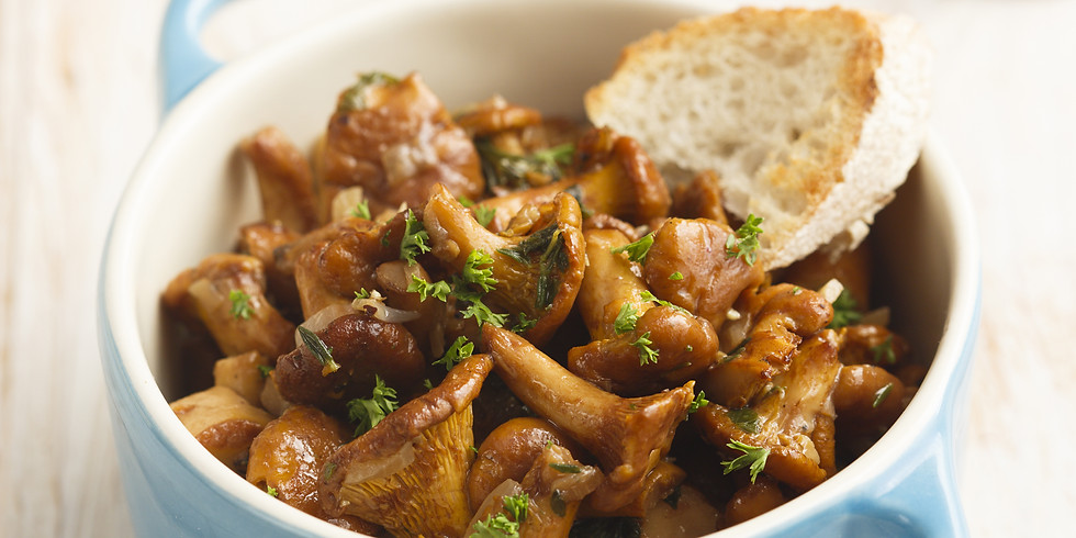 Wild Mushrooms with Garlic Confit and Bacon