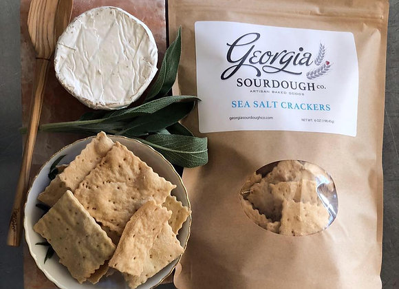 Sweet GA Sourdough Crackers