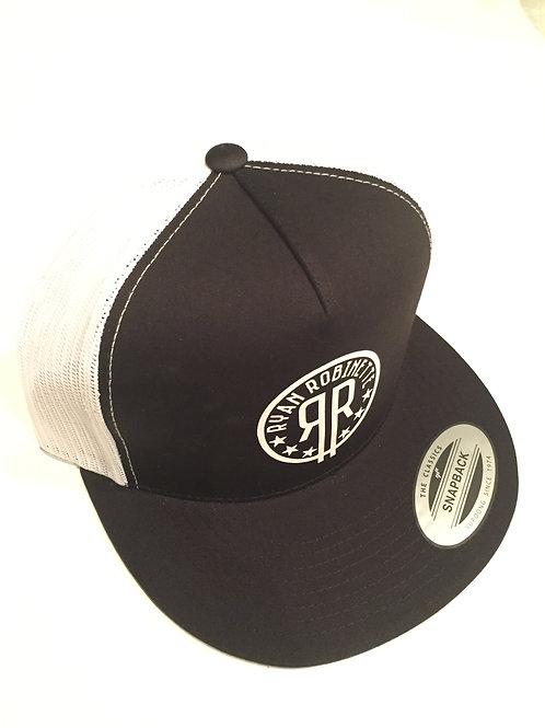 RR Logo Snapback (Black/White)