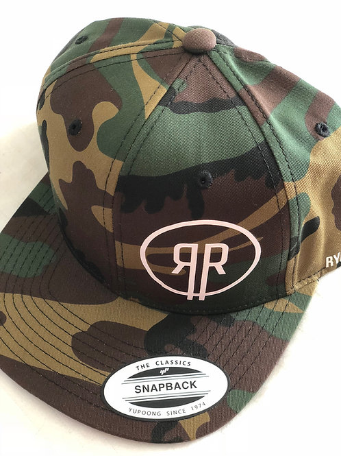 RR Logo Custom Cloth Snapback (Camo)