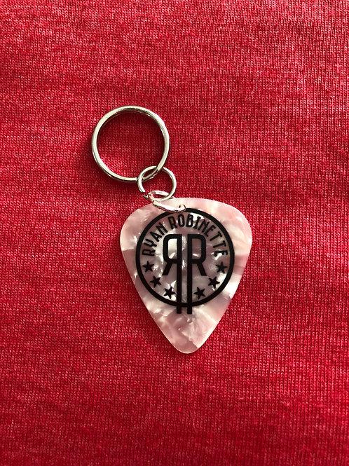 RR Guitar Pick Keychain