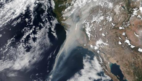 Astronaut spots California fires from space