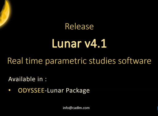 CADLM announces the new release 4.1 of ODYSSEE.Lunar and the new release 2.1 of ODYSSEE.Quasar
