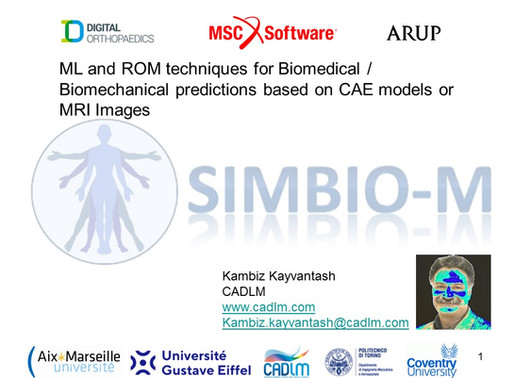 Technical: ML and ROM for Biomedical / Biomechanical predictions based on CAE models or MRI Images