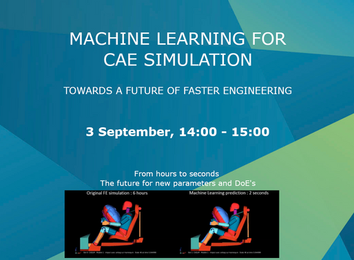 "Webinar "" Machine learning for CAE Simulation"" (In Summa - BENELUX)"