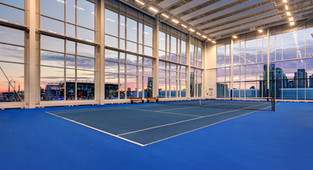 4th Floor Tennis Courts at Sunset