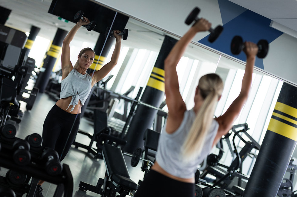 Woman in the Fitness Centre