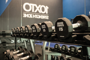 Free Weights Section in Strength Zone
