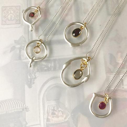 Satin finish Argentium Necklaces