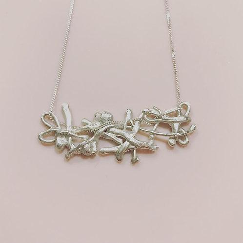 Organic Argentium Silver Necklace