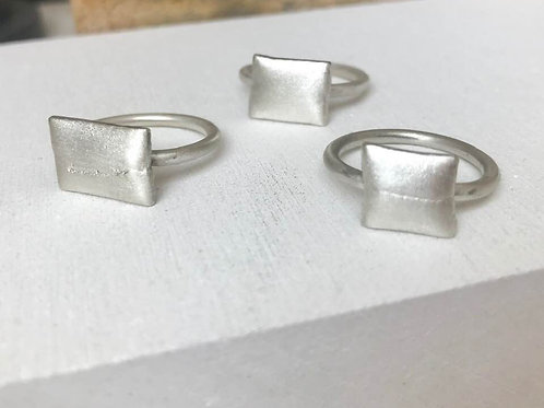 Argentium Silver  Satin Pillow Ring