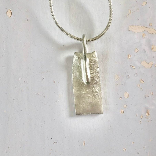 Pale  Argentium  Sterling Silver Reticulated Necklace