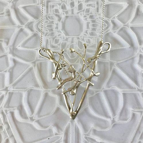 Argentium Silver Organic Sculptural Stag Pendant