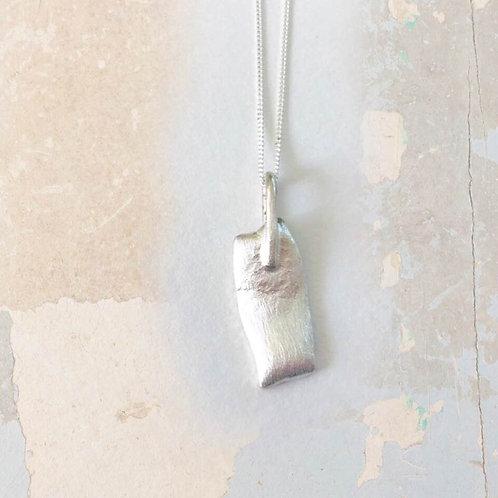 Slump Necklace in Argentium Silver