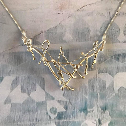 Gently Curved Argentium Silver Necklace