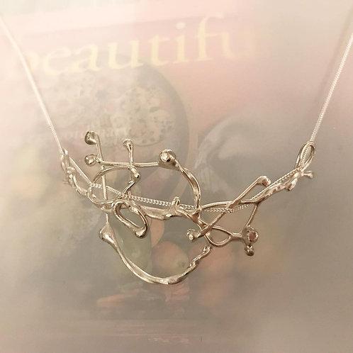 Argentium Silver Organic Sculptural Necklace