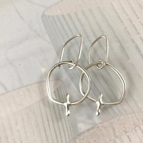 Argentium Silver Irregular Hoops