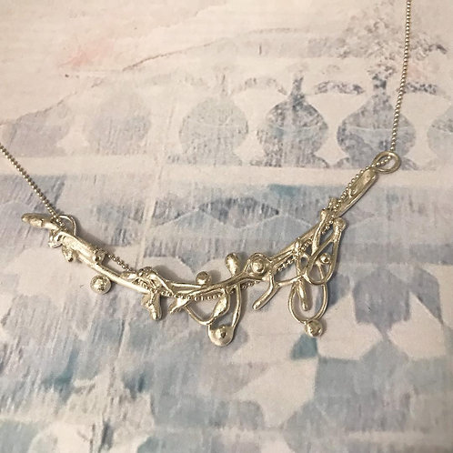 Curved Argentium Silver Necklace